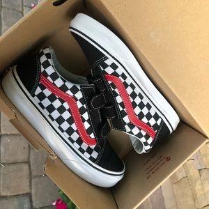 Velcro strap checkerboard vans!
